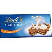 Chocolate con leche-almendras LINDT, tableta 100 g