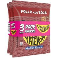 Fideos orientales de pollo-soja YATEKOMO, bag pack 3x79 g