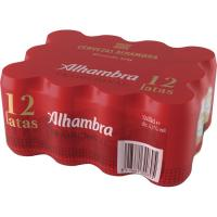 Cerveza ALHAMBRA Tradición, pack lata 12x33 cl