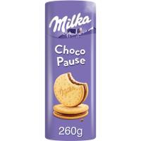 Galleta Choco Pause rulo MILKA, paquete 260 g
