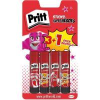 Barra adhesiva de 11gr PRITT, Pack 3+1 uds
