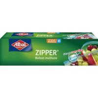 Bolsa multiuso zipper 1 litro ALBAL, caja 12 uds.