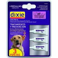 Pipeta fipronil perro grande 20-40 kg DIXIE, pack 3 uds.