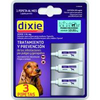 Pipetas Fripronil 10-20 kg DIXIE, pack 1,34 ml