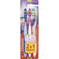Cepillo dental Zig Zag medio COLGATE, pack 3 unid.