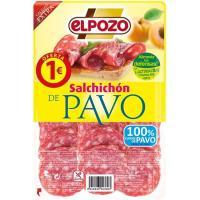 Salchichón de pavo ELPOZO, bandeja 80 g