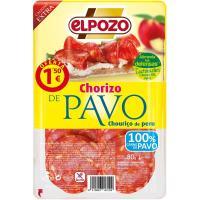 Chorizo de pavo ELPOZO, bandeja 80 g