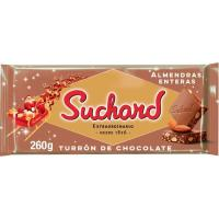 Turrón de chocolate con almendra SUCHARD, tableta 260 g