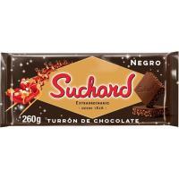 Turrón de chocolate negro crujiente SUCHARD, tableta 260 g