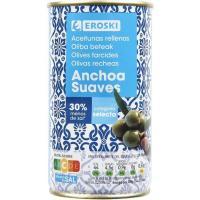 Aceitunas rellenas de anchoa suaves EROSKI, lata 150 g
