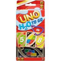 Juego de cartas UNO H20 To Go, resistente al agua, edad rec:+7 años MATTEL GAMES