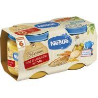 Potito de verduras-pollo NESTLÉ Naturnes, pack 2x200 g