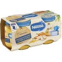 Potito de verduras-merluza NESTLÉ Naturnes, pack 2x200 g