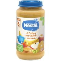 Potito merienda 6 frutas-galleta NESTLÉ Naturnes, tarro 250 g