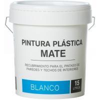 Pintura plástica de interior color blanco mate, bote 15l