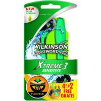 Maquinilla WILKINSON Xtreme 3 Sensitive, pack 4+2 uds.