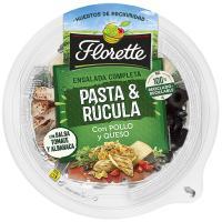 Ensalada de pasta y rúcula c/pollo queso FLORETTE, bowl 320 g
