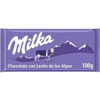 Chocolate con leche MILKA, tableta 100 g
