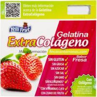 Gelatina de fresa colágeno YELLIFRUT, pack 4x100 g