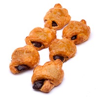 Mini croissant relleno de cacao, bandeja 8 unid.