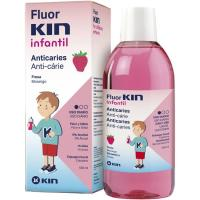 Enjugue bucal infantil de fresa KIN, botella 500 ml