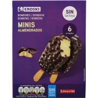 Mini bombón sin lactosa EROSKI, pack 6x40 ml