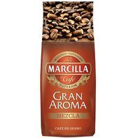 Café en grano mezcla 80/20 MARCILLA, paquete 500 g