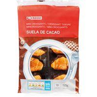 Mini croissant base de cacao EROSKI, paquete 150 g