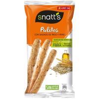 Palitos de cereales integrales con pipas SNATT`S, bolsa 55 g