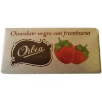 Chocolate negro con frambuesa ORBEA, tableta 125 g