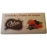 Chocolate con leche-frutas del bosque ORBEA, tableta 125 g