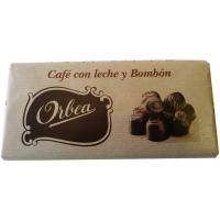 Chocolate con leche de bombón-café ORBEA, tableta 125 g