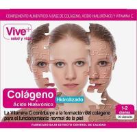 Colágeno-Ácido hialourónico VIVE+, caja 30 cápsulas