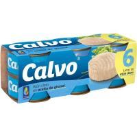 Atún claro en aceite Girasol CALVO, pack 6x80 g