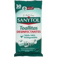 Toallitas desinfectantes multiusos SANYTOL, paquete 30 uds