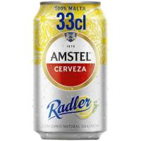 Cerveza con limón AMSTEL Radler, lata 33 cl