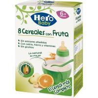 Papilla 8 cereales con fruta HERO, caja 500 g