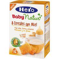 Papilla 8 cereales-miel HERO, caja 500 g