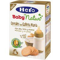 Papilla 8 cereales con galleta María HERO, caja 500 g