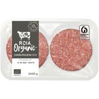 Hamburguesa vacuno ecológica ROIA Organic Meat, bandeja 2x120 g