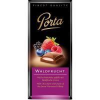 Chocolate relleno de frutas del bosque PORTA, tableta 100 g