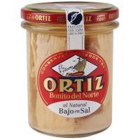 Bonito del Norte al natural bajo en sal ORTIZ, frasco 150 g