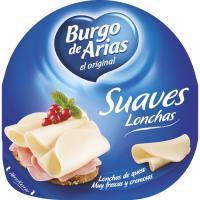 Queso fresco BURGO de ARIAS, lonchas, bandeja 125 g