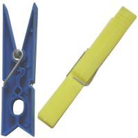 Pinzas para tender la ropa de plástico 75mm TARRES, paquete 24 uds