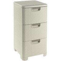 Organizados de 3 cajones Style blanco, CURVER, 378x328x600mm
