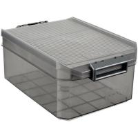 Caja de plástico con tapa color Fume, TATAY, 4 litros, 192x297x124cm