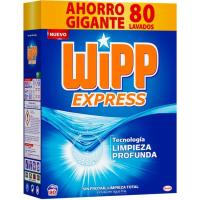 Detergente en polvo WIPP, maleta 80 dosis