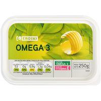 Margarina Omega 3 EROSKI, tarrina 250 g