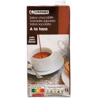 Chocolate a la taza EROSKI, brik 1 litro