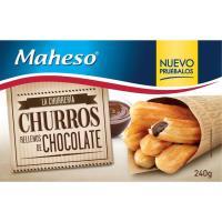 Churros rellenos de chocolate MAHESO, caja 240 g